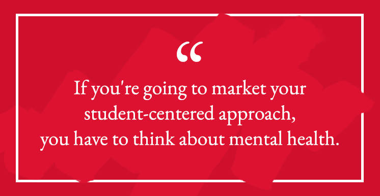 Gen Z and mental health quote for colleges