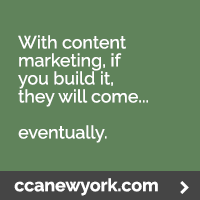 Content marketing mistake: unrealistic expectations. With content marketing, if you build it, they will come. Eventually.